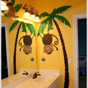 Jungle Monkey Bathroom Decor