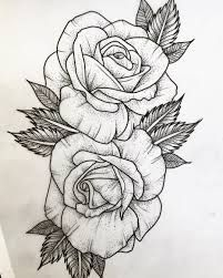 Resultado de imagen para three black and grey roses drawing tattoo