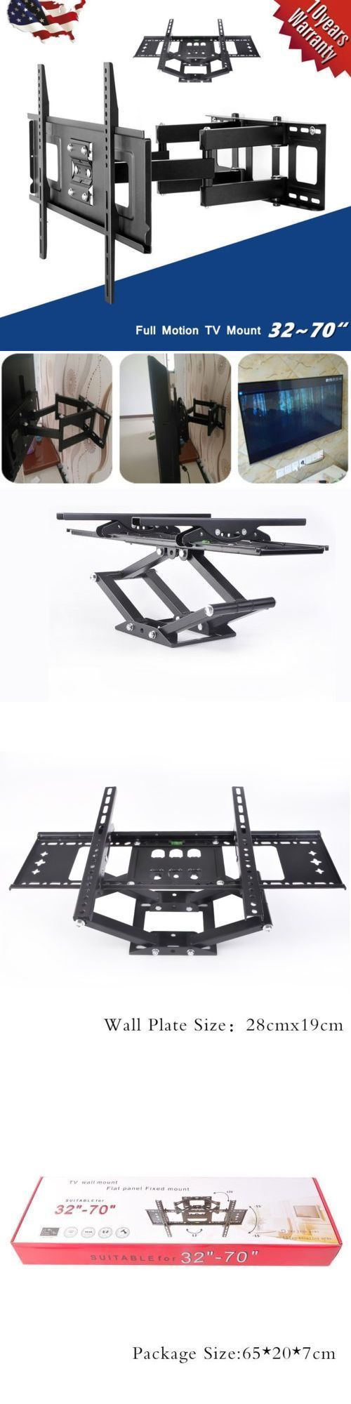 TV Mounts and Brackets: Articulating Swivel Led Lcd Tv Wall Mount Bracket 32 40 42 46 47 50 55 60 65 70~ BUY IT NOW ONLY: $30.85
