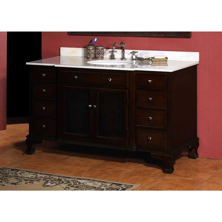 james martin solid wood 53 deandra classic bathroom vanity with a countertop 206 001 - Craftsman Bathroom 2016