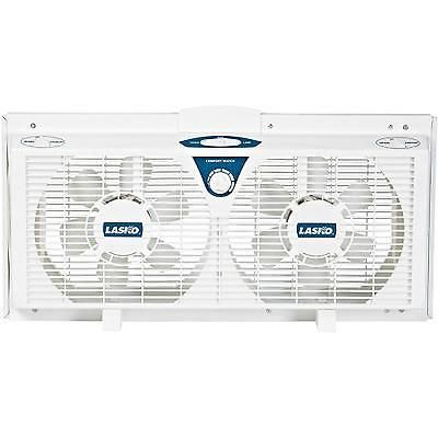 Reversible Twin Window Fan 8 Inches Electrically Exhaust Adjustable Portable New