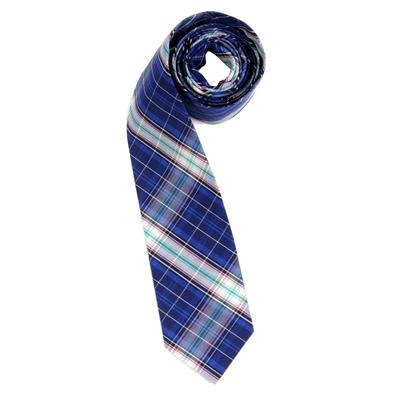 Plaid Tie by Andrew Christian in Royal: Andrew Christian, Andrewchristianshop Com