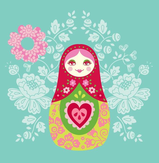 Matryoshka Nesting Doll Illustration