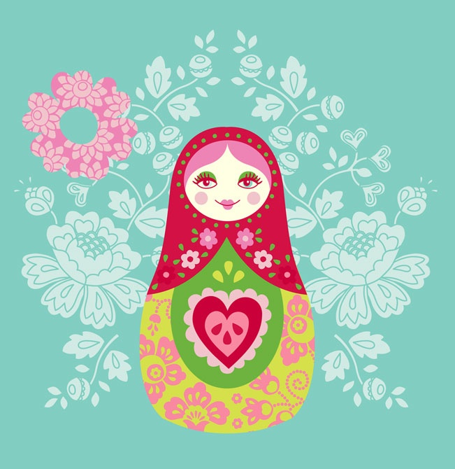 Matryoshka Nesting Doll Illustration