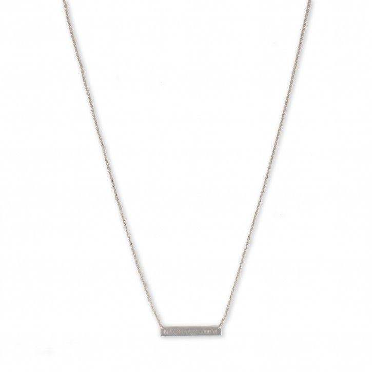 Super Stylish   Necklace Balance NY *** De ketting heeft een totale lengte van 38 cm en is in lengte verstelbaar naar 40cm en 42cm. Op de ketting staan cijfers, met als betekenis de lengte- en breedtegraad van New York. Alle sieraden zijn gemaakt van 925 sterling zilver met een rose gold plated of gold plated laag.