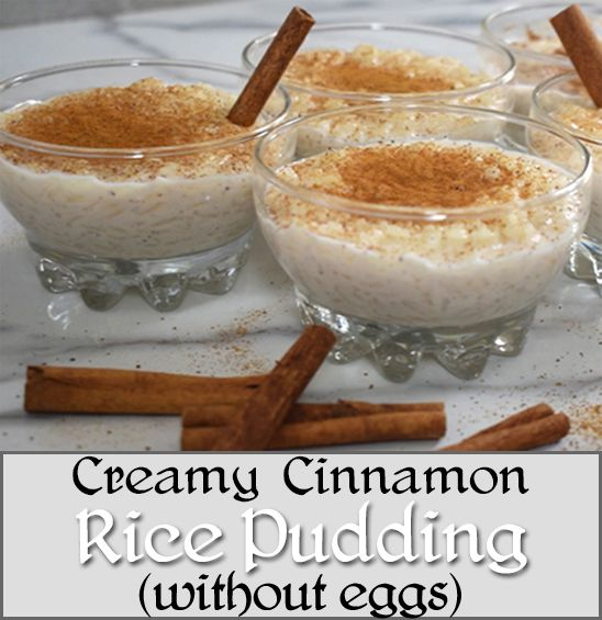 Creamy Cinnamon Rice Pudding (without eggs) - Who doesn't like fast and easy 5-ingredient desserts that are ready in 20 minutes?  This pudding is creamy, light, delicious, cinnamony and hard to stop eating