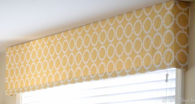 how to make a tailored valance Flat panel done in Platueau/lemon