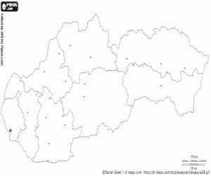 Omalovánka Slovensko mapa