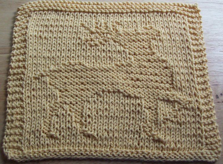 holiday knitted washcloth patterns | DigKnitty Designs: Prancing Reindeer Knit Dishcloth Pattern