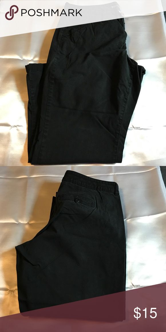 Maurice's 22 Short Black Khaki's with slight flare Maurice's 22 Short Black Khaki's with slight flare Maurices Pants Boot Cut & Flare