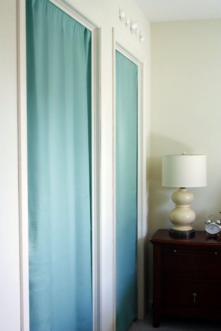 Curtains for closet doors - Iheart Organizing September Featured Space Bedroom Conquering Closets Part