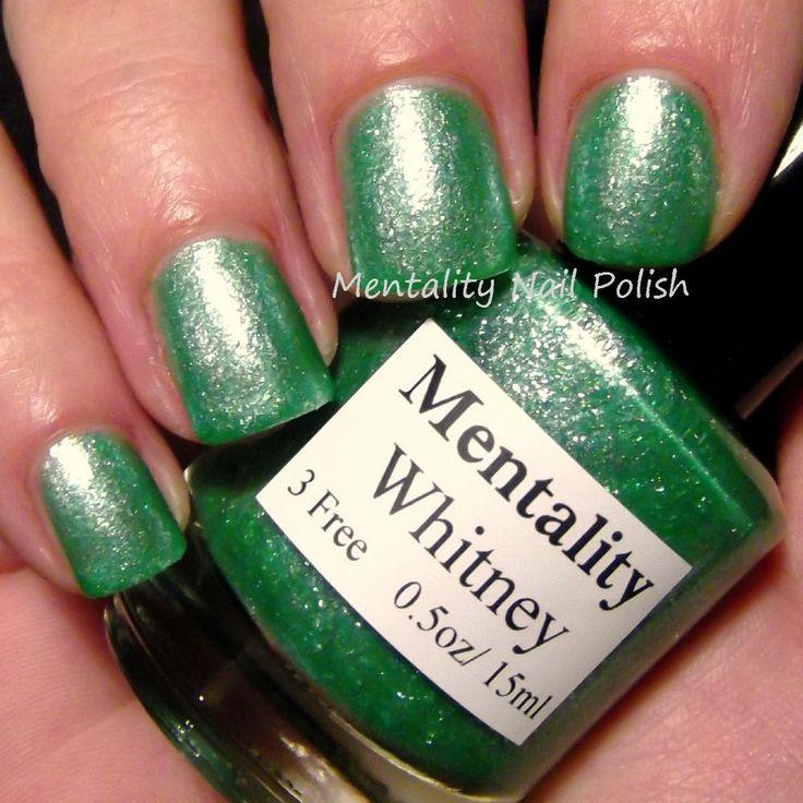 Mentality Nail Polish: Whitney - Glass Fleck Jellies