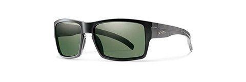 Smith Optics Outlier Sunglasses, Matte Black Frame, Chromapop Polarized Gray Green Lens