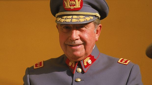 Chileans ramp up extradition request for Pinochet-era murder, torture suspect living in Sydney. Pictured is dictator Augusto Pinochet.