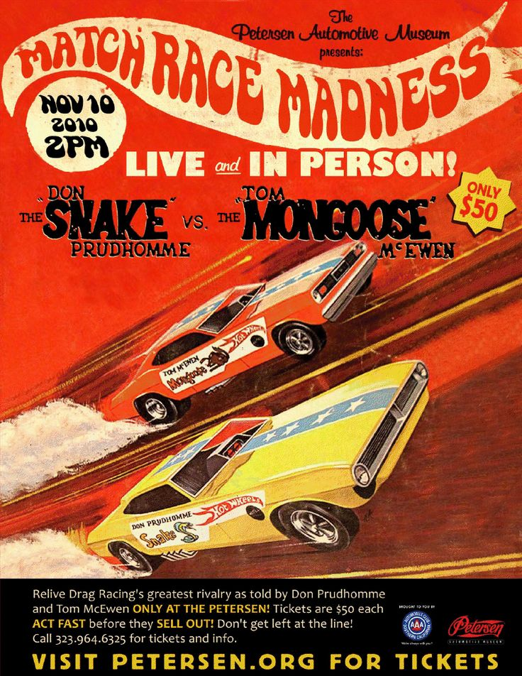 RELIVE DRAG RACING'S TOP RIVALRY 11/10 ~ THE SNAKE VS. THE MONGOOSE