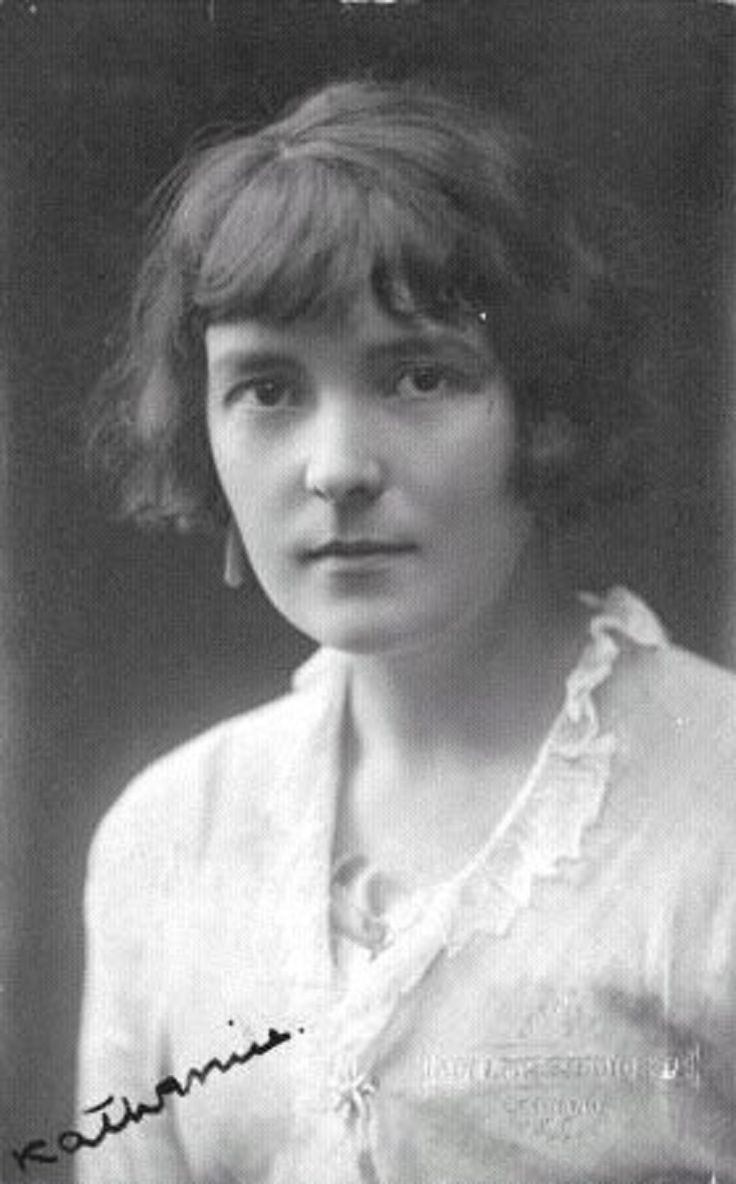 Katherine Mansfield Beauchamp Murry (14 October 1888 – 9 January 1923) was a prominent modernist writer of short fiction who was born and brought up in colonial New Zealand and wrote under the pen name of Katherine Mansfield. Mansfield left for Great Britain when she was 19 where she encountered Modernist writers such as D.H. Lawrence and Virginia Woolf with whom she became close friends. Her stories often focus on moments of disruption and frequently open rather abruptly.
