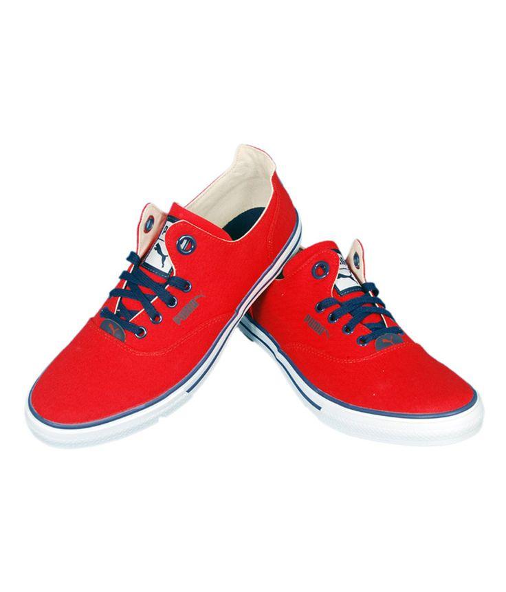 Puma Limnos Cat 2 Dp Red Canvas Men Casual Shoes
