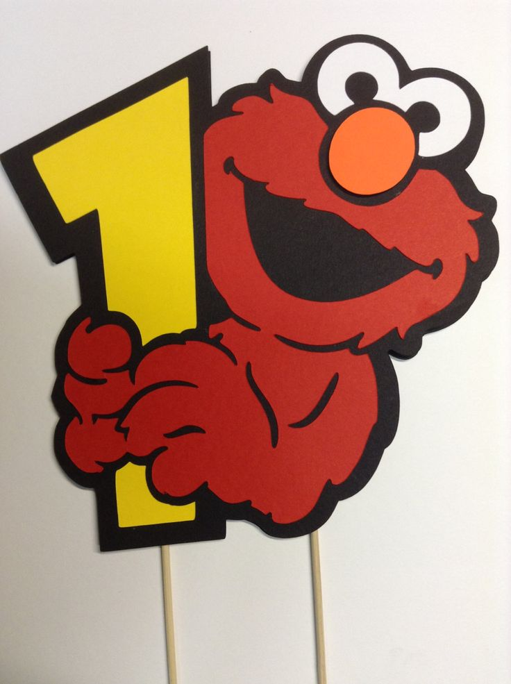 Elmo Smash Birthday Cake Topper by whimzypartycreations on Etsy, $4.00