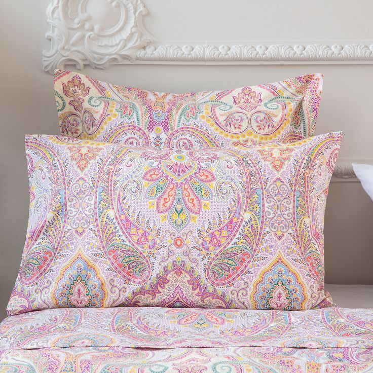 Roupa de cama estampado paisley multicolor zara home for Fundas para sillas zara home