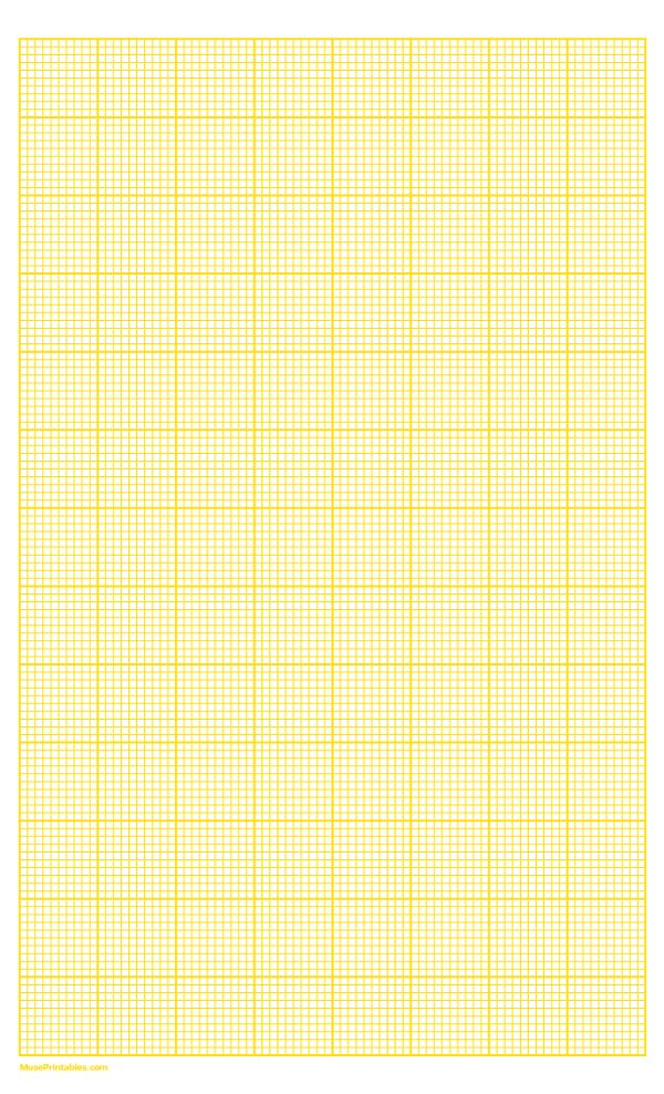 10 squares per inch yellow graph paper   legal