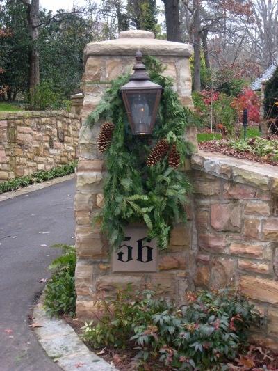 Stone Entrance Column Lights Driveway Posts