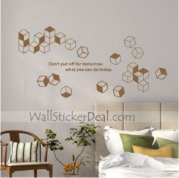 Best Shape Wall Decals Images On Pinterest Wall Stickers - How do you put a wall sticker on
