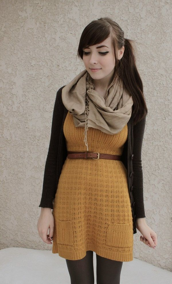 This outfit sponsors all the neutral fall colors! And even though no two colors are alike it still looks adorable!