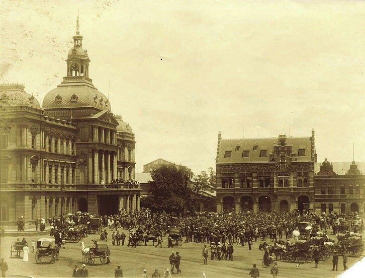 Kerkplein in Pretoria,South Africa  (year unknown).