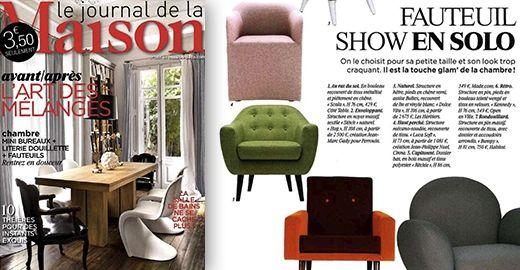 Arreda in stile danese con la comoda poltrona Ritchie in grigio antracite con bottoni colorati | made.com Mia!