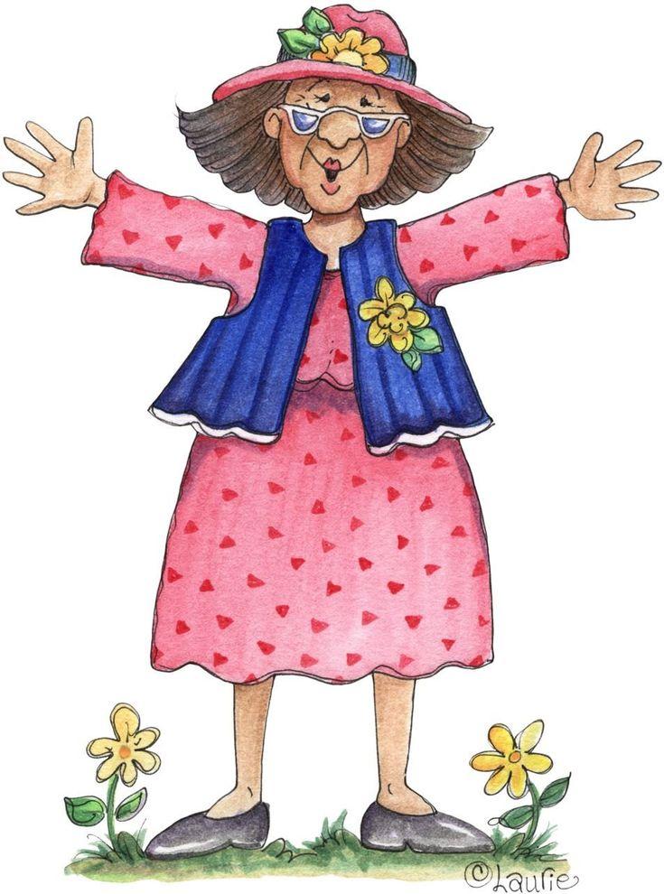 Картинки для, открытки нарисованные бабушки