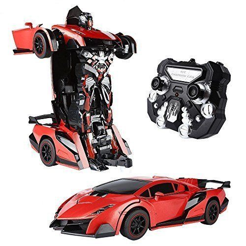 Car Transformers Toy For Boys Birthday Gift Robot Transforms To Car Remote Red #Kbrand