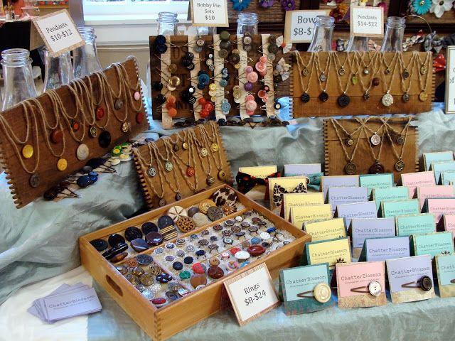 jewelry table display for craft show