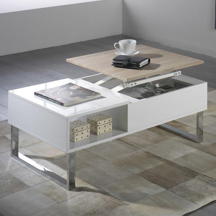 Les 25 meilleures id es de la cat gorie table basse relevable sur pinterest table basse - Table basse relevable cassidy ...