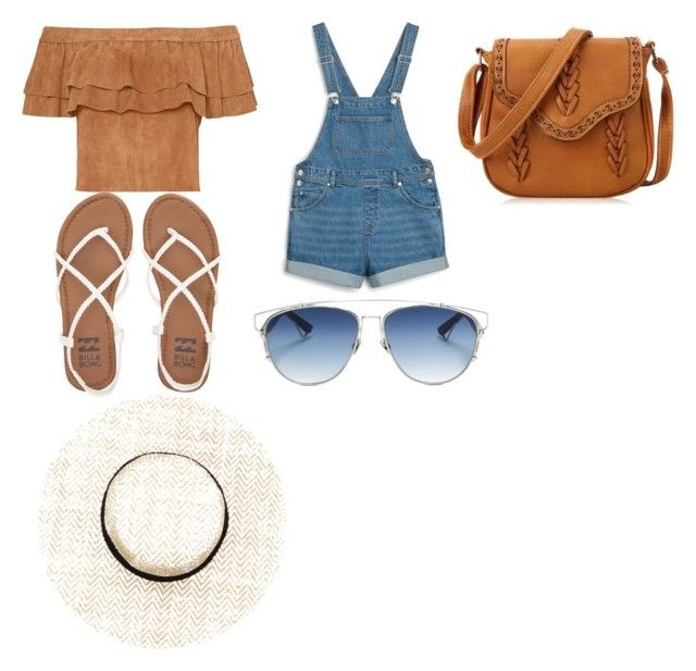 """Calgary Stampede Outfit"" by olalokuola on Polyvore featuring Monki, Billabong and Christian Dior"