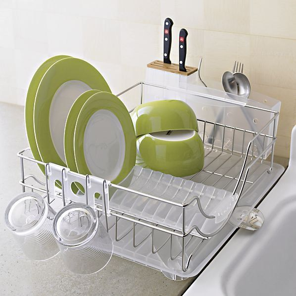 Simplehuman System Dish Rack In Utility Kitchen Helpers Crate And Barrel On Wanelo