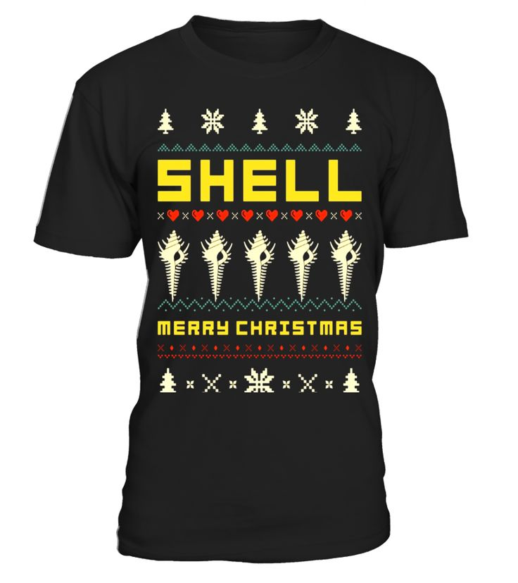 SHELL Ugly Christmas Sweater T-Shirt Vintage Retro Style T-shirt, christmas t-shirts women, christmas t-shirts men, christmas t-shirt 4xl, christmas t-shirt boys, christmas t-shirt family set, christmas t-shirt 2017