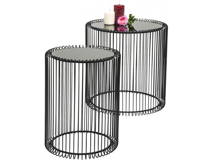 Stolik Kawowy Wire II (2/Set) — Ławy, Stoliki kawowe — KARE® Design