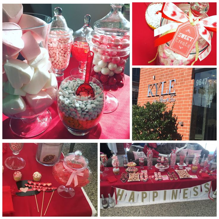 Valentine's Day candy table, Valentine's Day party ideas, Valentine's Day candy, Valentine's Day props, Valentine's Day candy jar decor, glass candy jar, glass candy jar decorations