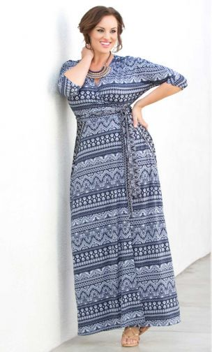 Moroccan Maxi Wrap Dress