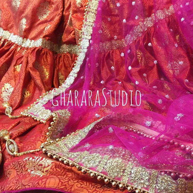 Gharara in Orange & Pink. Right combination of colours is what makes your Gharara gorgeous.   #Gharara #ghararastudio #ghararastudiobyshazia #ghararadesign #ghararah #ghararafashion #ghararalove #ghararadesign #bridal #bride #wedding #weddingdress #weddings #nikah #fashion #fashionblogger #fashionstylist #fashiongram #fashionblog #blog #indianfashionblogger #indianfashion #indianstylist #indiandress #indiantradition #instafashion #silk #pinkorange