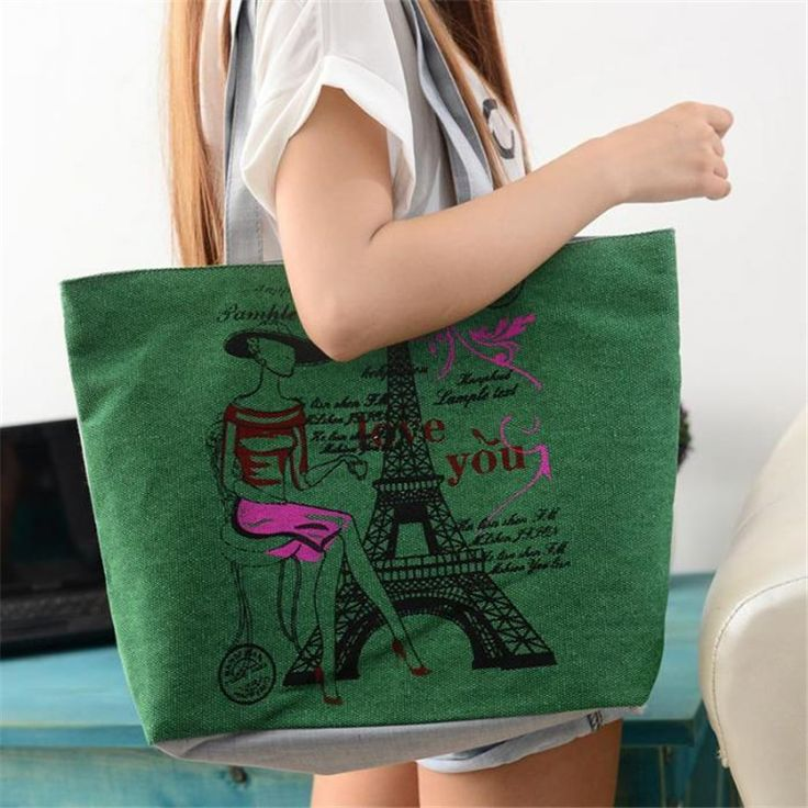 50% off only for today, Use coupon code dollarstore50    bolsa feminina 2017 Handbags Casual Tote Two Strap Bag Totes Fashion Style Iron Tower Canvas Zipper Versatile Bags para mujer //Price: $7.00 //       #LiveYoungLiveFree    #fashion #instafashion #fashionista #fashionblogger #mensfashion #fashionable #fashionblog #fashiondiaries #fashionstyle