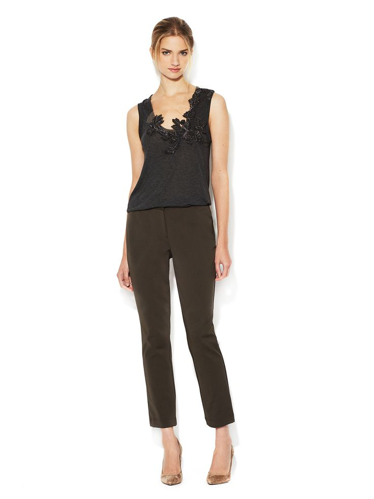 Skinny Cropped Pant  Pant #GownsWomen #Pants