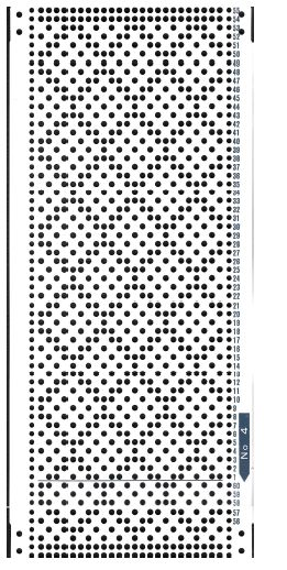 Brother 820 Knitting machine Punchcard number 4   http://www.needlesofsteel.org.uk/