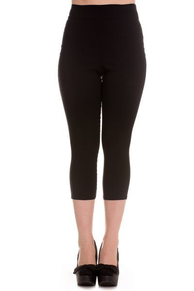 Tina Black Capri Trousers by Hell Bunny