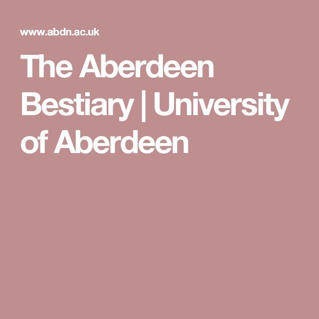 The Aberdeen Bestiary   University of Aberdeen