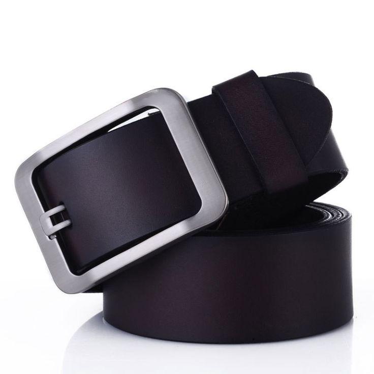 Genuine Leather belts for men High quality metal pin buckle jeans belt mens belts luxury