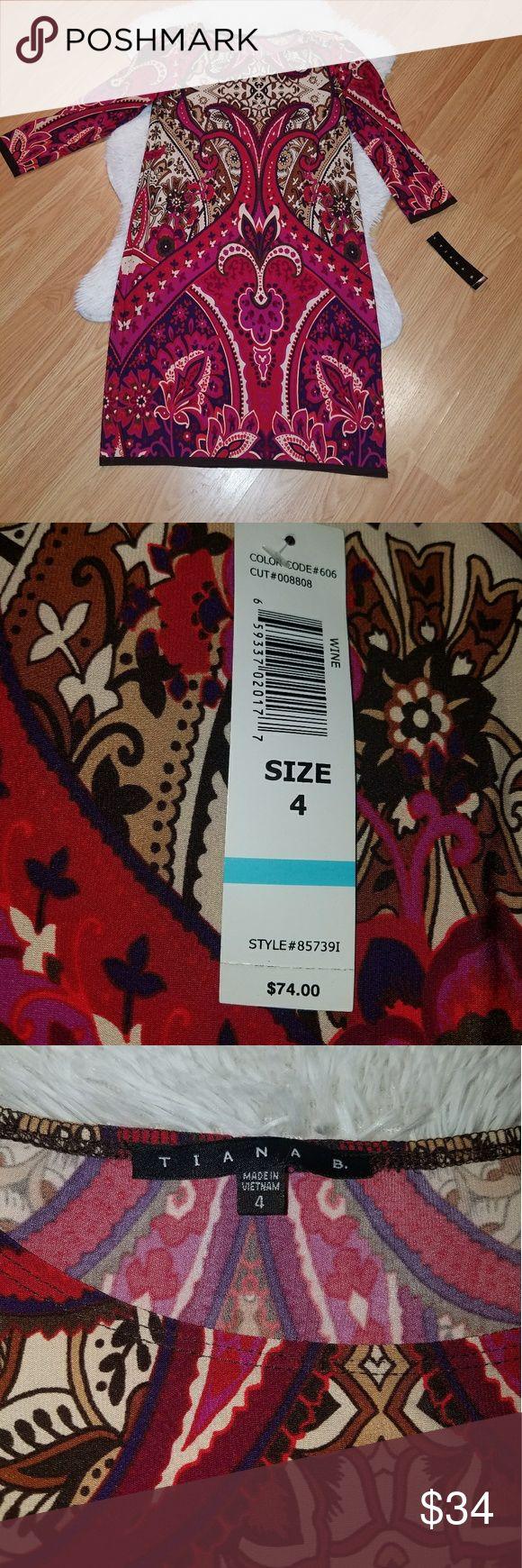I just added this listing on Poshmark: NWT Tiana B. Dress Size 4 Red Purple Tan Brown. #shopmycloset #poshmark #fashion #shopping #style #forsale #Tiana B #Dresses & Skirts