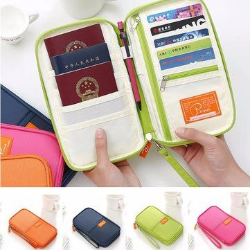 Long Multifuntional Credentials Card Storage Bags Holder Passport Papers Handbag Cheap - NewChic Mobile.