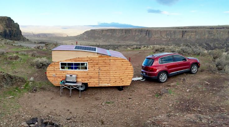 Made from wood and other natural materials, Homegrown Trailers are light enough to pull behind a small SUV or large car.