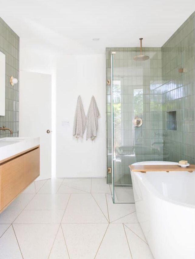 Fireclay Tile Beige Bathroom Modern Decor Small Tiles Ideas